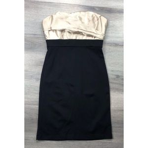 BCBGMAXAZRIA dress color block evening elegant 2